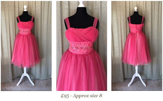 Vintage cupcake tulle pink prom dress from Vintage lane bridal boutique in Bolton