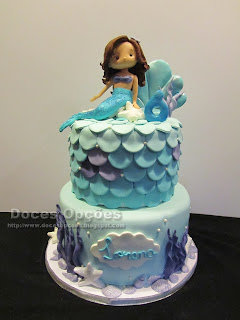 birthday cake with mermaid
