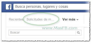 Solicitudes de mensajes en Facebook - MasFB