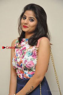 Kannada Actress Mahi Rajput Pos in Floral Printed Blouse at Premam Short Film Preview Press Meet  0007.jpg