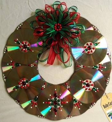 Enfeites para o natal com CDs 17