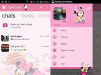Download BBM Minnie Mouse For Android