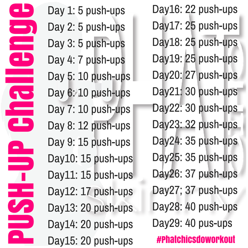 Shrink Back Fat With Our PUSH Up Challenge