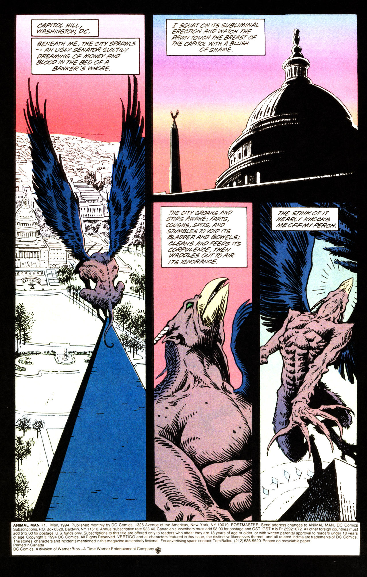 Read online Animal Man (1988) comic -  Issue #71 - 3