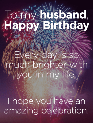 Send this To my Loving Husband – Happy Birthday Wishes Card
