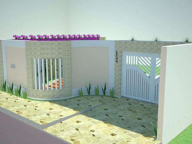 terraco jardim detalhe:Construindo Minha Casa Clean: Fachadas! Muros, grades e portões para