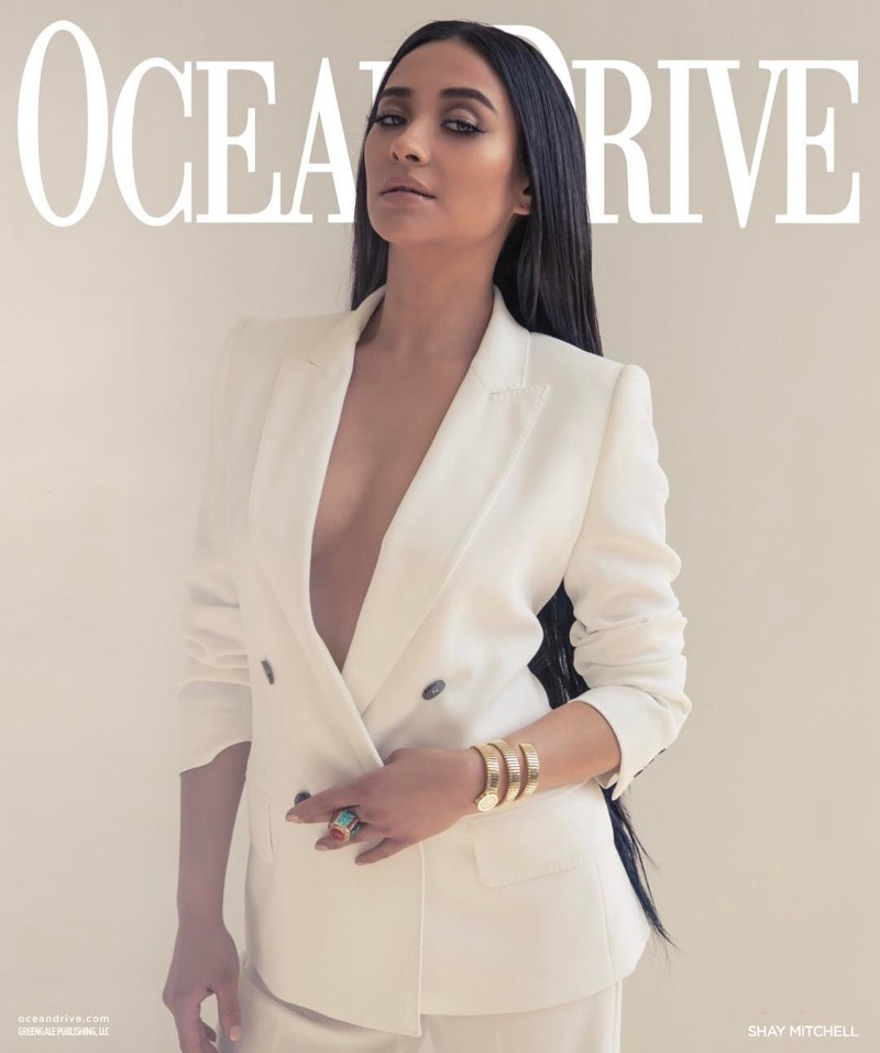 Shay Mitchell Stuns in Spring Styles for Ocean Drive Magazine