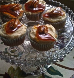 Maple Glazed Cupcakes - great holiday recipe!