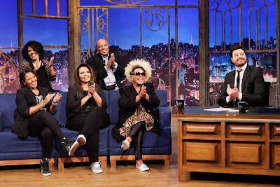 Fat Family durante a entrevista (Crédito: Eve Schwarz/SBT)