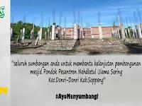 Gerakan 1 Juta Koin Untuk Pembangunan Masjid Pontren NU Kab. Soppeng