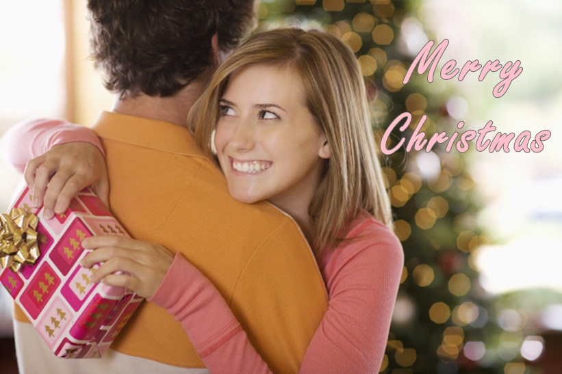 Christmas Love Wishes Image of Couple