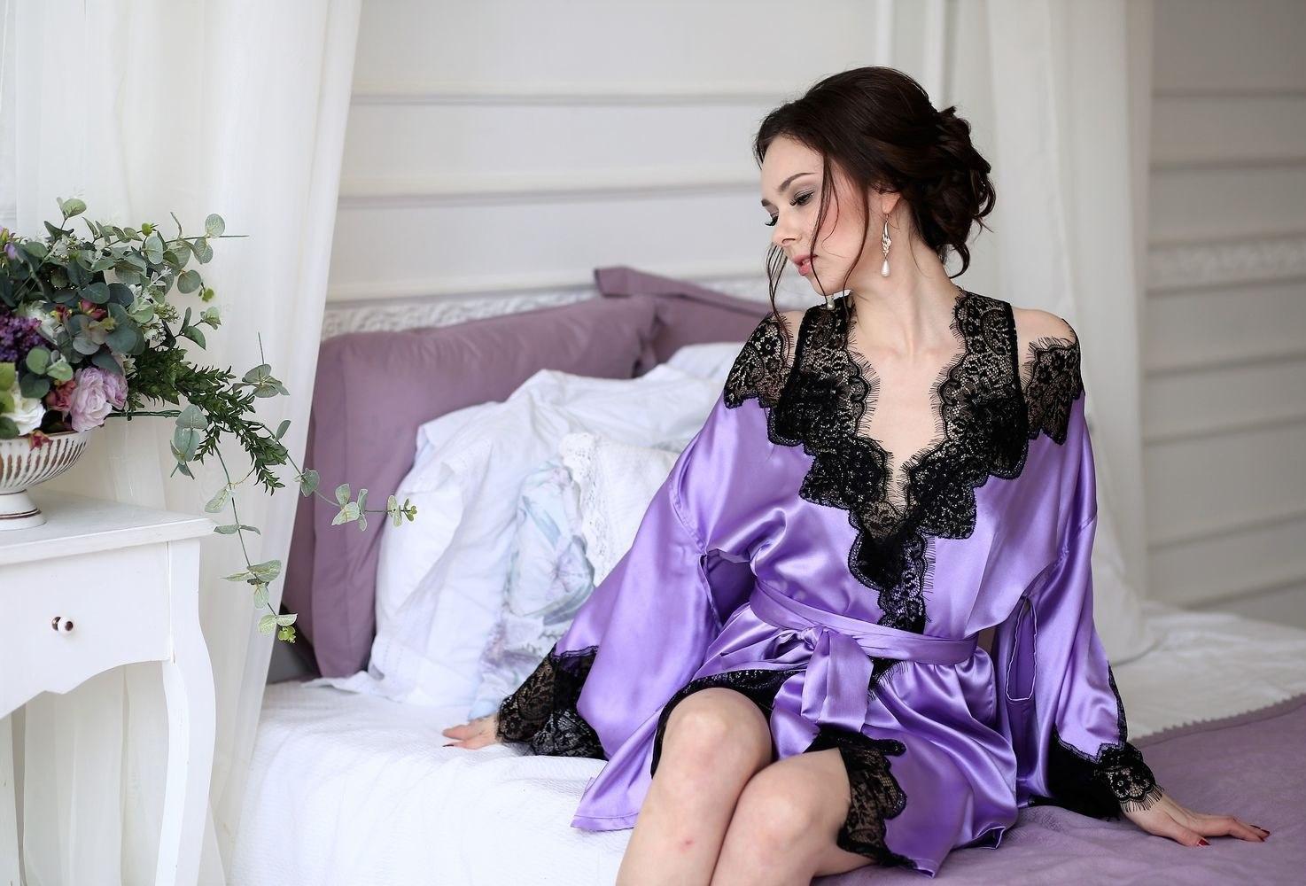 Silk Satin Dress: Silk Satin Clothes Dress Lingerie Nightwear