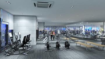 phòng tập gym tại dự án goldseason 47 nguyễn tuân