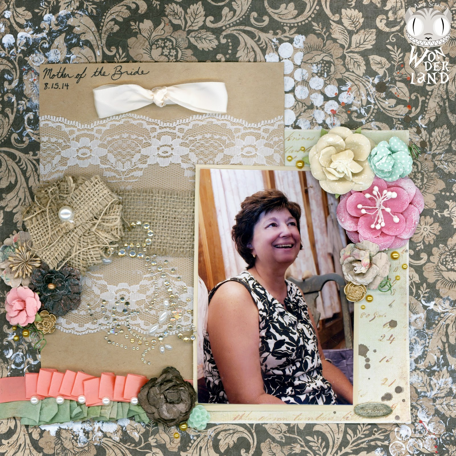 Mother of the Bride by Alice Scraps Wonderland.  This layout was created for C.S.I. challenge #153.
