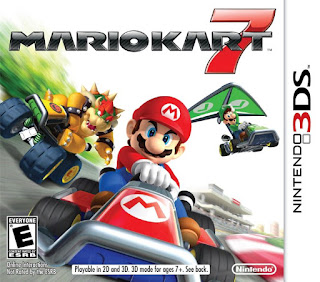 Carátula gráfica del estuche del cartucho de Mario Kart 7 para la Nintendo 3DS, 2011