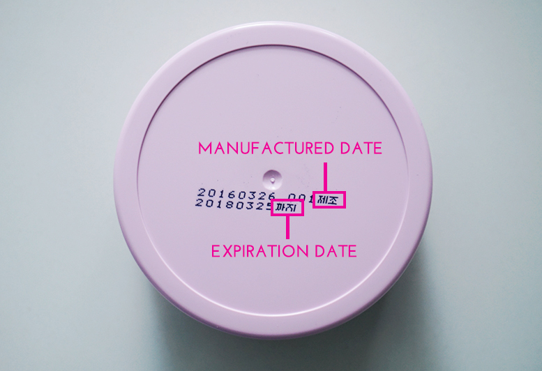 Product expiration dates