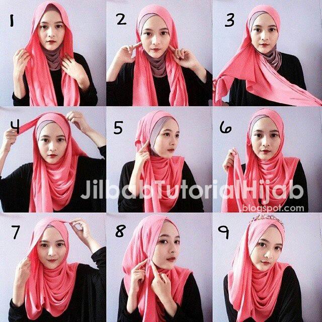 Tutorial Cara Memakai Hijab Pashmina 2016 dengan Headpiece