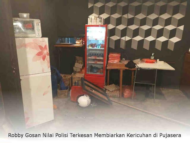 Robby Gosan Nilai Polisi Terkesan Membiarkan Kericuhan di Pujasera