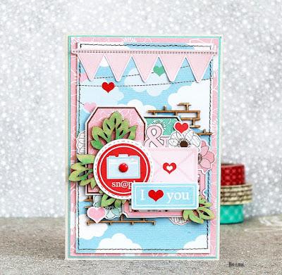 valentines day, открытка для девушки, открытка с сердцем
