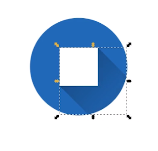 Tampilan hasil akhir logo simple material design menggunakan Inkscape