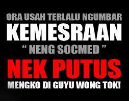 Gambar kata bahasa jawa dikala banyak sekali beredar di media umum ibarat BBM Gambar Kata Bahasa  Jawa 2019