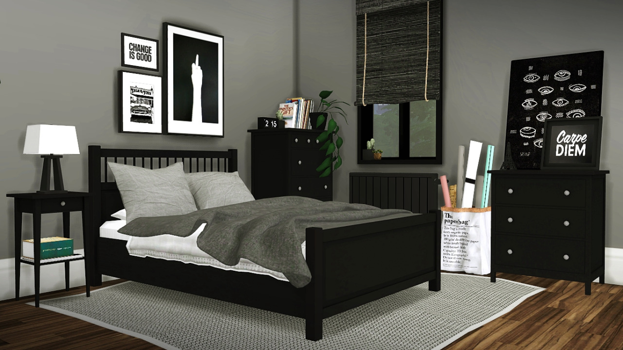 My sims 4 blog ikea hemnes bedroom set by mxims for Bedroom designs sims 4
