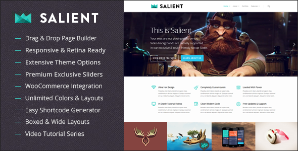 Free Download Salient V6.1.5 Responsive Multi-Purpose WordpressTheme