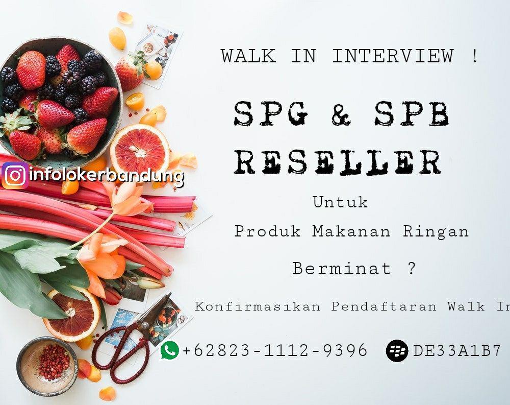 Lowongan Kerja SPG & SPB Produk Makanan Ringan Bandung Januari 2018