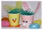 NAMC montessori preschool classroom Easter curriculum activities paper cup chick bunny