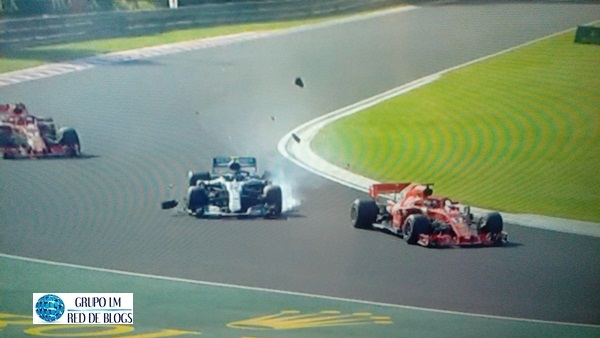 ACCIDENTE DE BOTTAS Y VETTEL