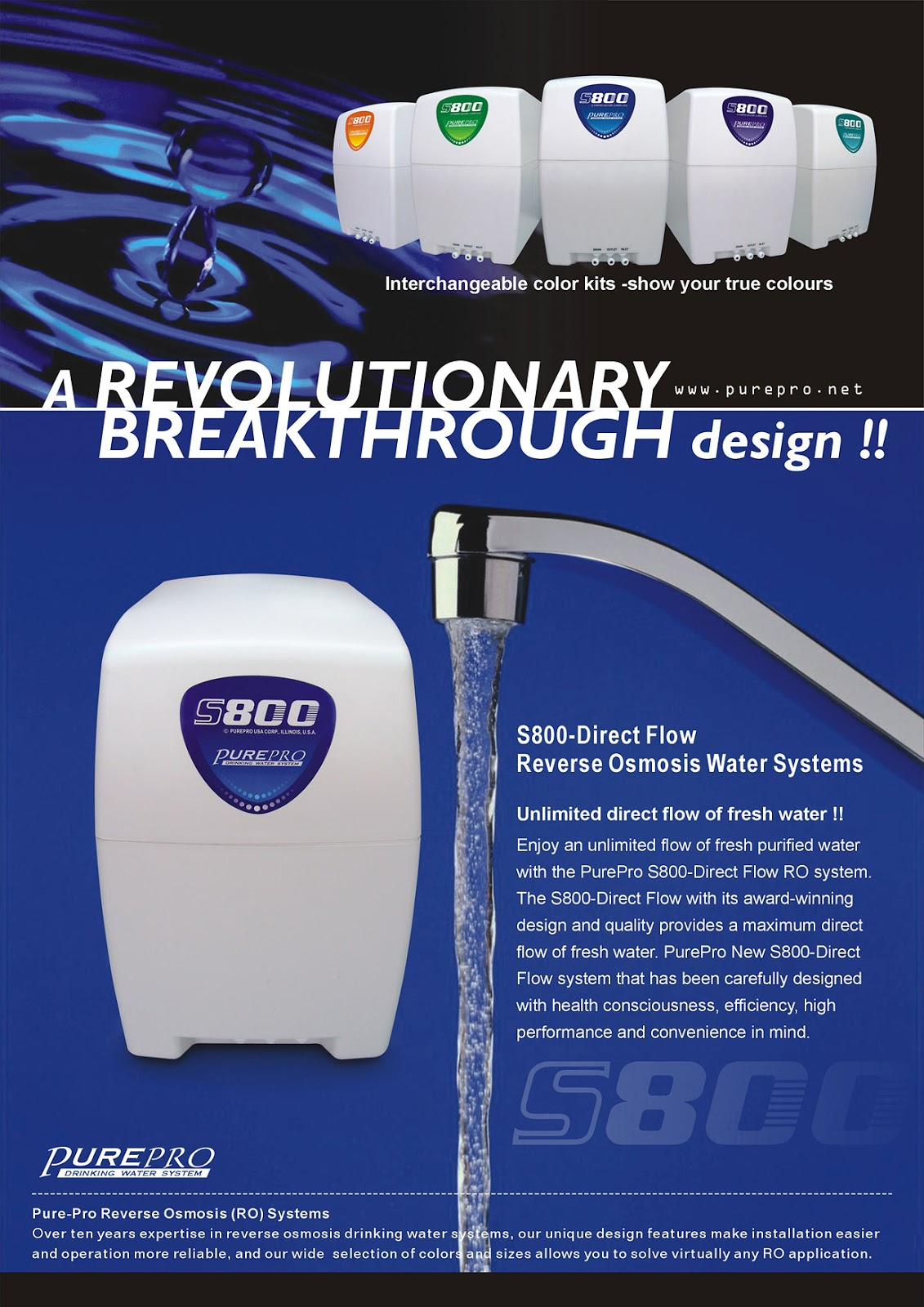 PurePro® S800-Direct Flow Reverse Osmosis Water Filter System