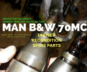 MAN B&W, Sulzer B&W, MAN B&W 70MC, Spare Parts, unused, recondition, ship machinery, sale, supplier, genuine, OEM, sell, Cylinder, Liner, Assy, Block, Piston, Crown, Rod, fuel, diesel