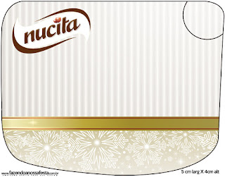 Gold and Grey Free Printable Candy Bar Nucita Labels.