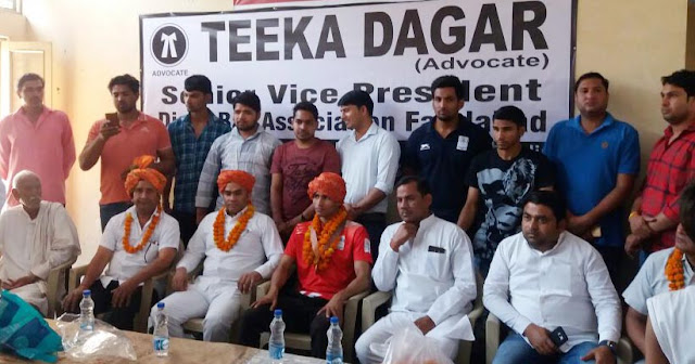 Commonwealth Games May Gold Medalists Gaurav Solanki and Tika Dagar a grand welcome