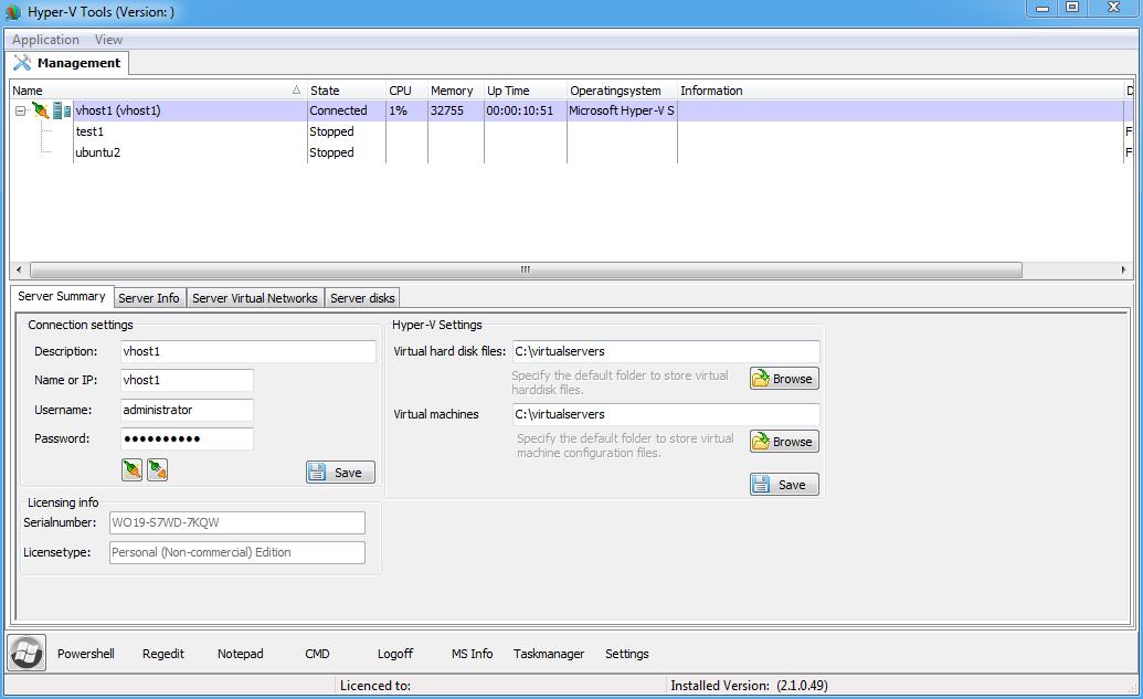 Windows Free Core Server 2012 Hyper-v 3 0: NEW GUI hyper-v Manager