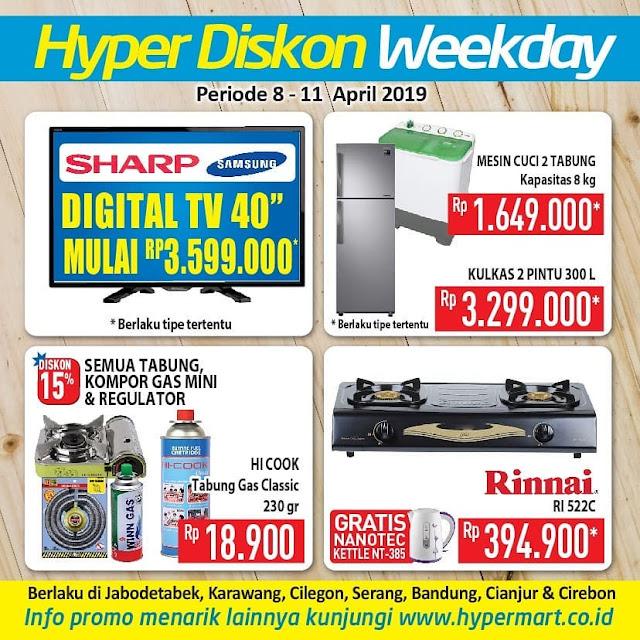 #Hypermart - #Promo #Katalog Hyper Diskon Weekday Periode 08 - 11 April 2019