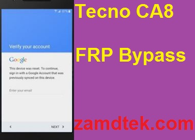Tecno CA8 Hard reset google reset, and FRP bypass