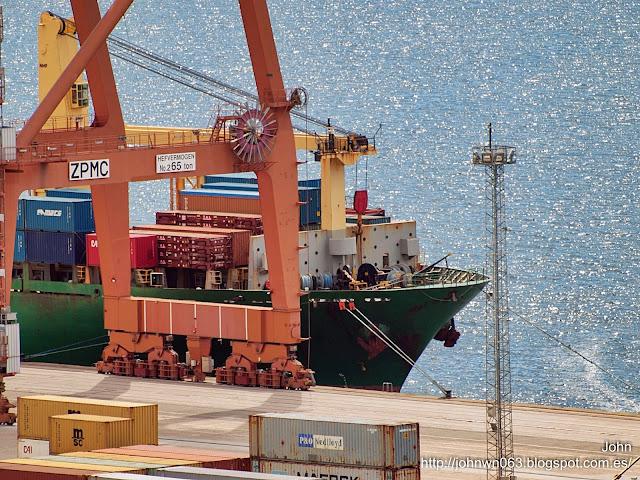 fotos de barcos, imagenes de barcos, red cedar, portacontendores, macs, guixar, vigo