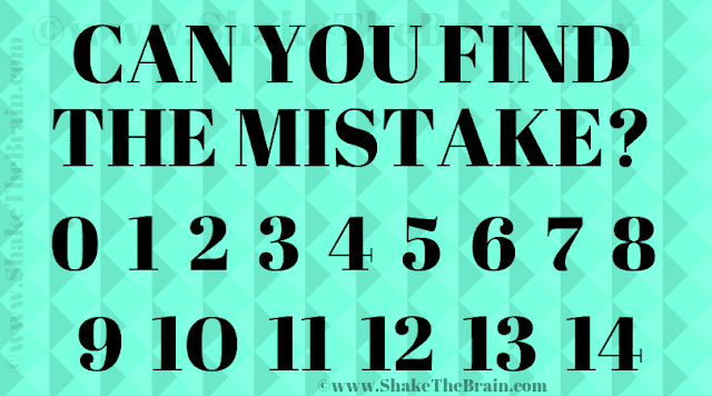 In this Observational Skill Test, your challenge is to find the mistake in this given puzzle image