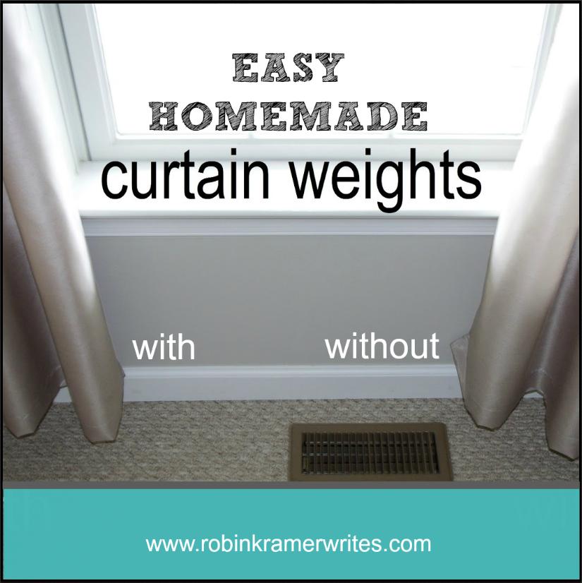 easy homemade diy curtain weights