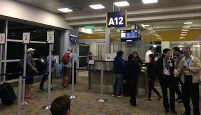 Quito airport gate waiting area