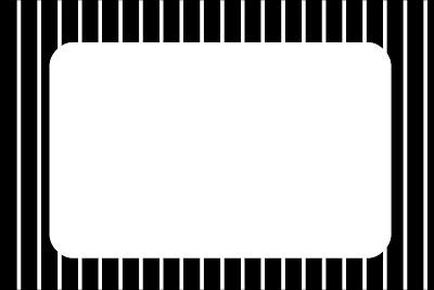 Listras Preto E Branco Kit Completo Com Molduras Para Convites