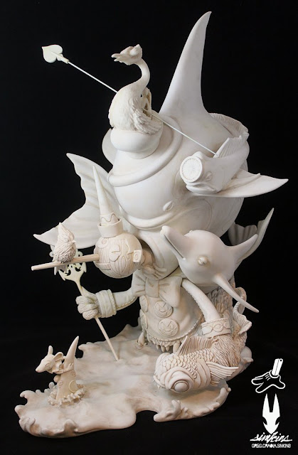 "Beyond The Sea Fine Art Sculpture by Greg ""Craola"" Simkins x Silent Stage Gallery"