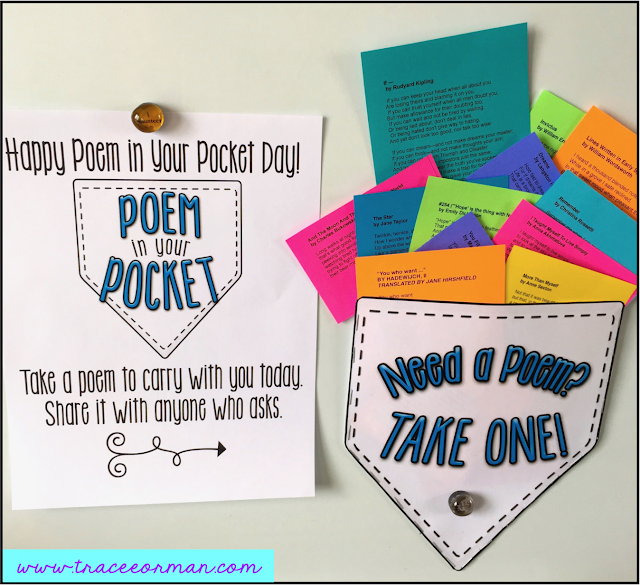 Poetry bulletin board ideas from www.traceeorman.com