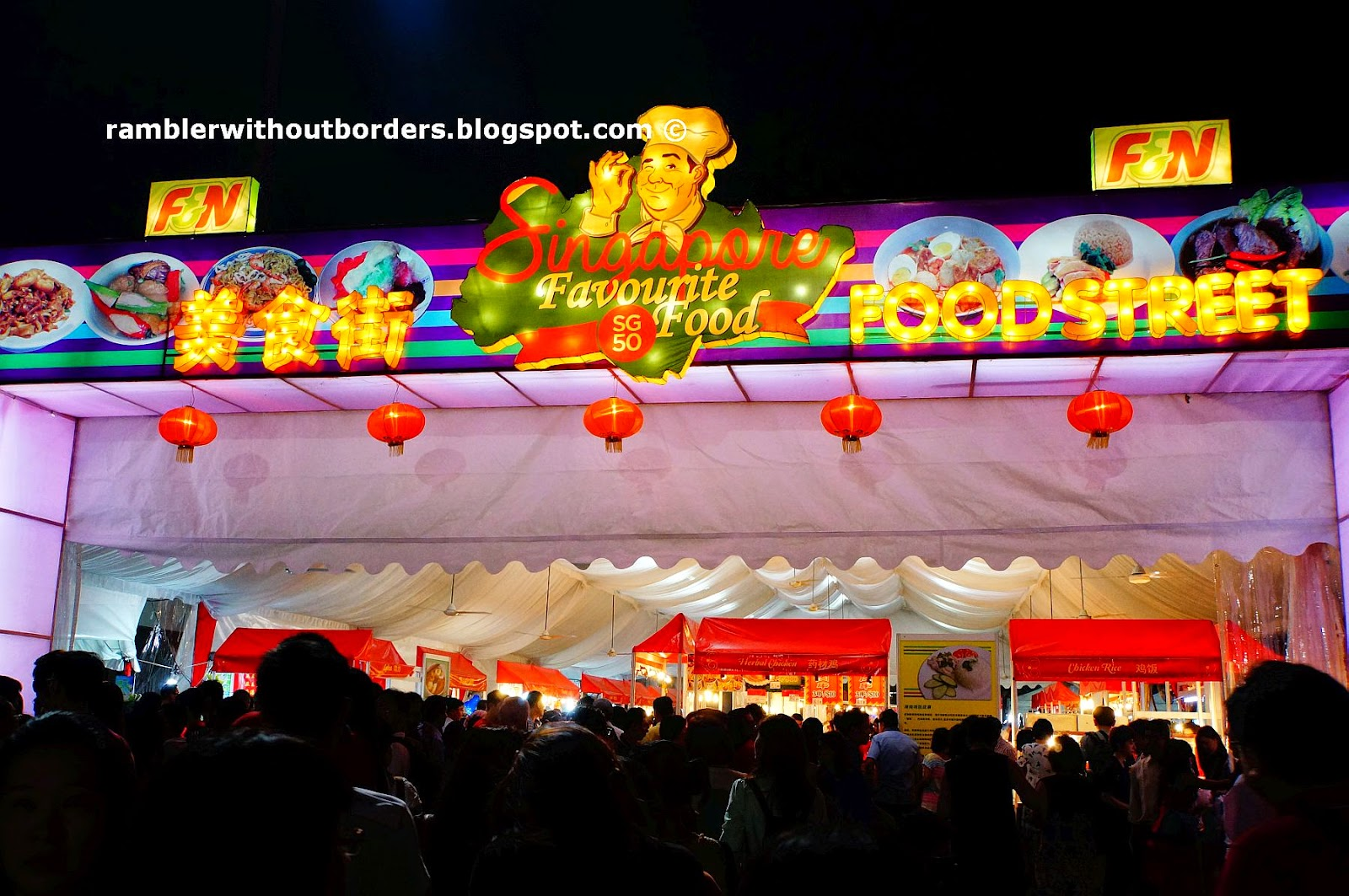 Food Street, River Hongbao, Singapore