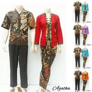 model baju batik sarimbit pasangan modern