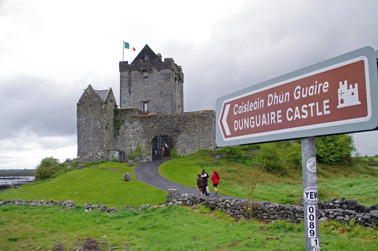 Dunguaire Castle with sign