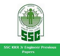 SSC KKR Jr Engineer Previous Paper