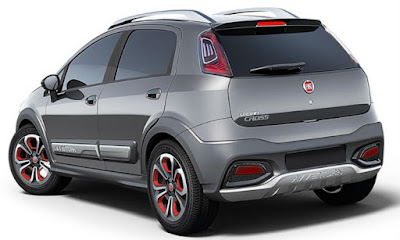2016 Fiat Urban Cross rear view wallpapers