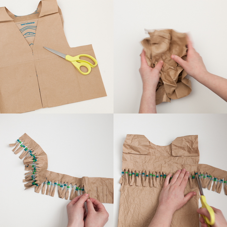 beads diy craft costume step by step fringe vest